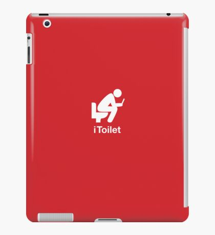 iToilet, red- icon for people who love reading from iPad iPad Case/Skin
