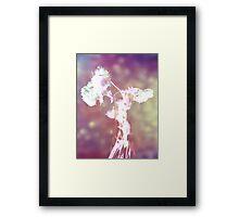 Withering Away - Magenta Sparkle Framed Print