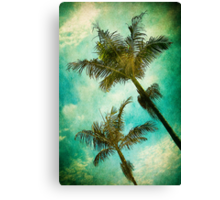 Swaying Palms Canvas Print
