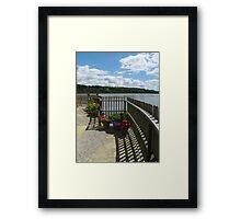 Lighthouse Gardens Framed Print