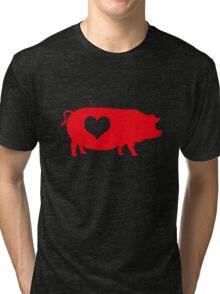 Pig Heart Bacon Tri-blend T-Shirt
