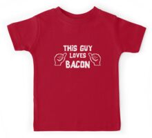 This Guy Loves Bacon Kids Tee