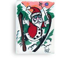 Skiing Santa Canvas Print