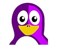 Purple Penguin Photographic Print