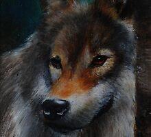 European Wolf by Lynn Hughes