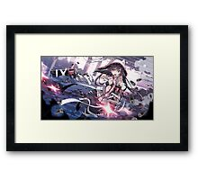 Anime Girl with guns Framed Print
