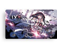 Anime Girl with guns Canvas Print