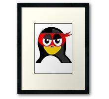 Superhero Penguin Framed Print