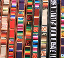 Colorful Cloth and Leather Belts by rhamm