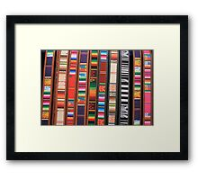 Colorful Cloth and Leather Belts Framed Print