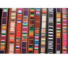 Colorful Cloth and Leather Belts Photographic Print