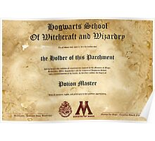 Official Hogwarts Diploma Poster - Potions Poster