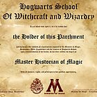 Official Hogwarts Diploma Poster - History of Magic by eaaasytiger