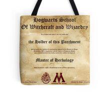 Official Hogwarts Diploma Poster - Herbology Tote Bag