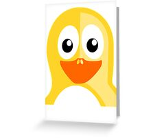 Yellow Penguin Greeting Card