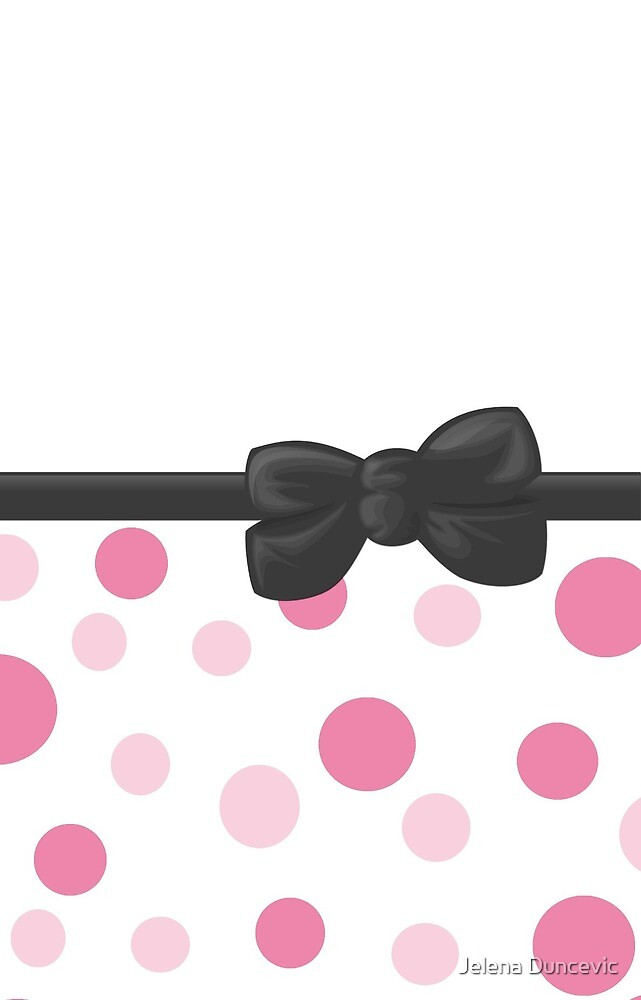 Ribbon, Bow, Dots, Spots (Dotted Pattern) - Pink Gray by sitnica