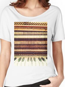 Wooden Frame Piano Women's Relaxed Fit T-Shirt