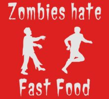 Zombies hate fast food One Piece - Short Sleeve