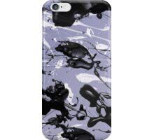 White and black paint splash iPhone Case/Skin