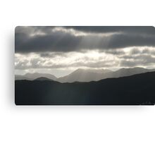 Shining Through The Grey Canvas Print