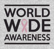 World Wide Awareness of Breast Cancer One Piece - Short Sleeve