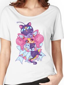 Sailor Mini Moon & Space Kitties Women's Relaxed Fit T-Shirt