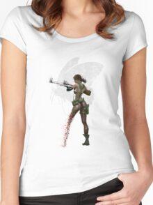 Silent Mercenary Women's Fitted Scoop T-Shirt