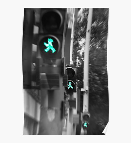 Trademark:  East German pedestrian crossings. Poster