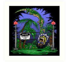 Jurassic Pounce! (Dark Shirts) Art Print