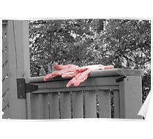 break from gardening gloves Poster