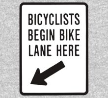 Bicycle Begin Bike Lane Here by PaulHamon