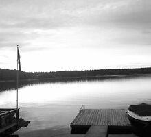 The Lake (Black and White) by Seawef