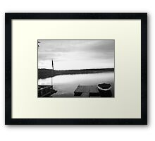 The Lake (Black and White) Framed Print
