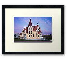 Uniting Church Penguin Tasmania Framed Print