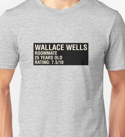 Scott Pilgrim - Wallace Wells' Name Card Unisex T-Shirt