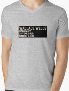 Scott Pilgrim - Wallace Wells' Name Card Mens V-Neck T-Shirt