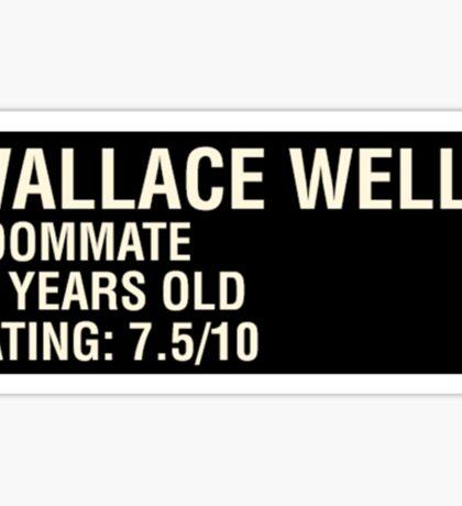 Scott Pilgrim - Wallace Wells' Name Card Sticker