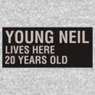 Scott Pilgrim - Young Neil's Name Card by JordanDefty
