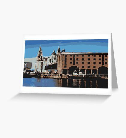Liverpool - Albert docks Greeting Card