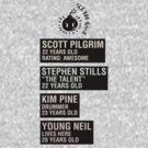 Scott Pilgrim - Sex Bob Omb Name Cards by JordanDefty