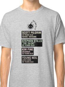 Scott Pilgrim - Sex Bob Omb Name Cards Classic T-Shirt