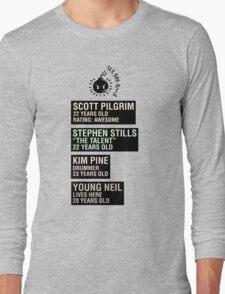 Scott Pilgrim - Sex Bob Omb Name Cards Long Sleeve T-Shirt