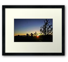 Waikato Moon Framed Print