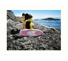 Surf's Up! (3 of 3) Art Print