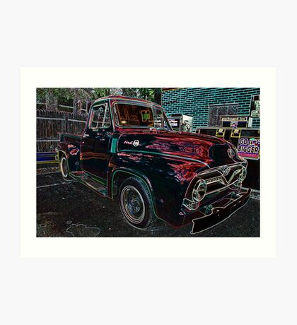 Vintage Red Ford Truck 2 Art Print