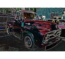 Vintage Red Ford Truck 2 Photographic Print