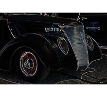 Vintage Truck Front Grill Photographic Print