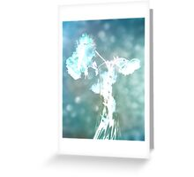 Withering Away - Aqua Sparkle Greeting Card