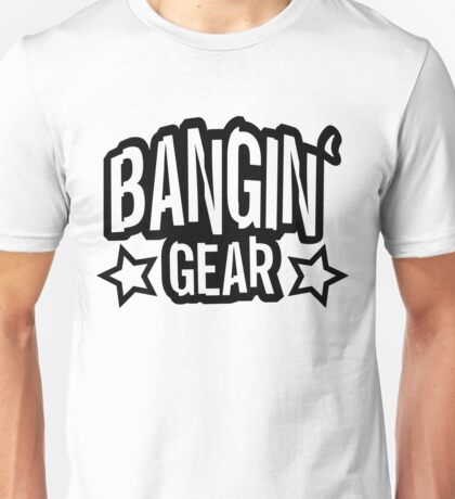 Bangin' Gear Black Logo Items Unisex T-Shirt