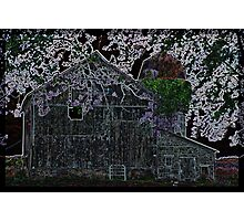 Neon Farmstead 2 Photographic Print